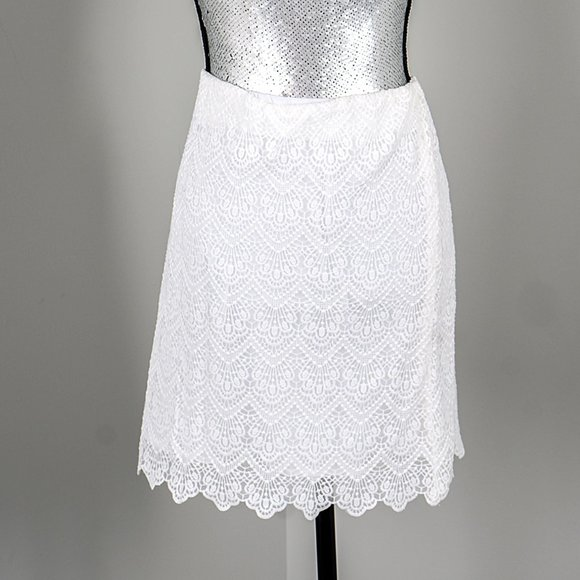 NWT J Crew whit lace skirt - 14